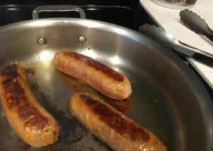 Choriz & Lentil Soup - Brown Sausages