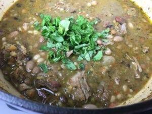 15 Bean Soup - Add Fresh Herbs