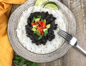 Cuban Style Black Beans - Serve over rice