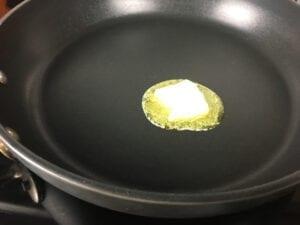 Easy Shrimp Fried Rice - Add butter