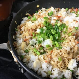 Easy Shrimp Fried Rice - Add remaining ingredients